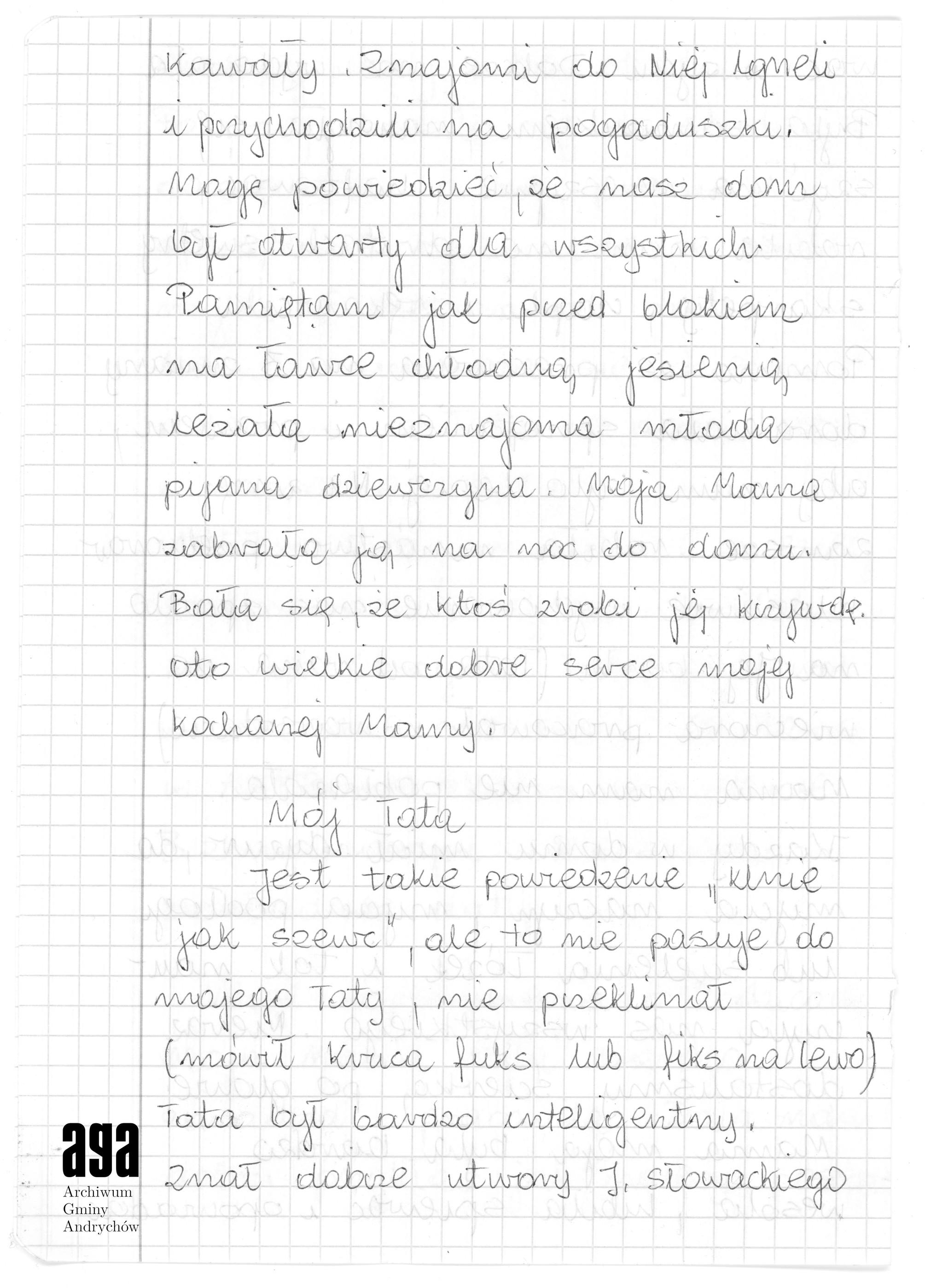 Rękopis Bożeny Bylicy Wspomnienia O Rodzicach Archiwum