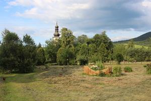 Widok na kościół w Rzykach, fot. R. Pazdur