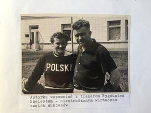 Zdjęcie Urszuli Figwer z trenerem Zygmuntem Szelestem