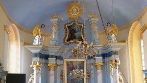 Wnętrze kaplicy w Zagórniku . fot. R.Pazdur