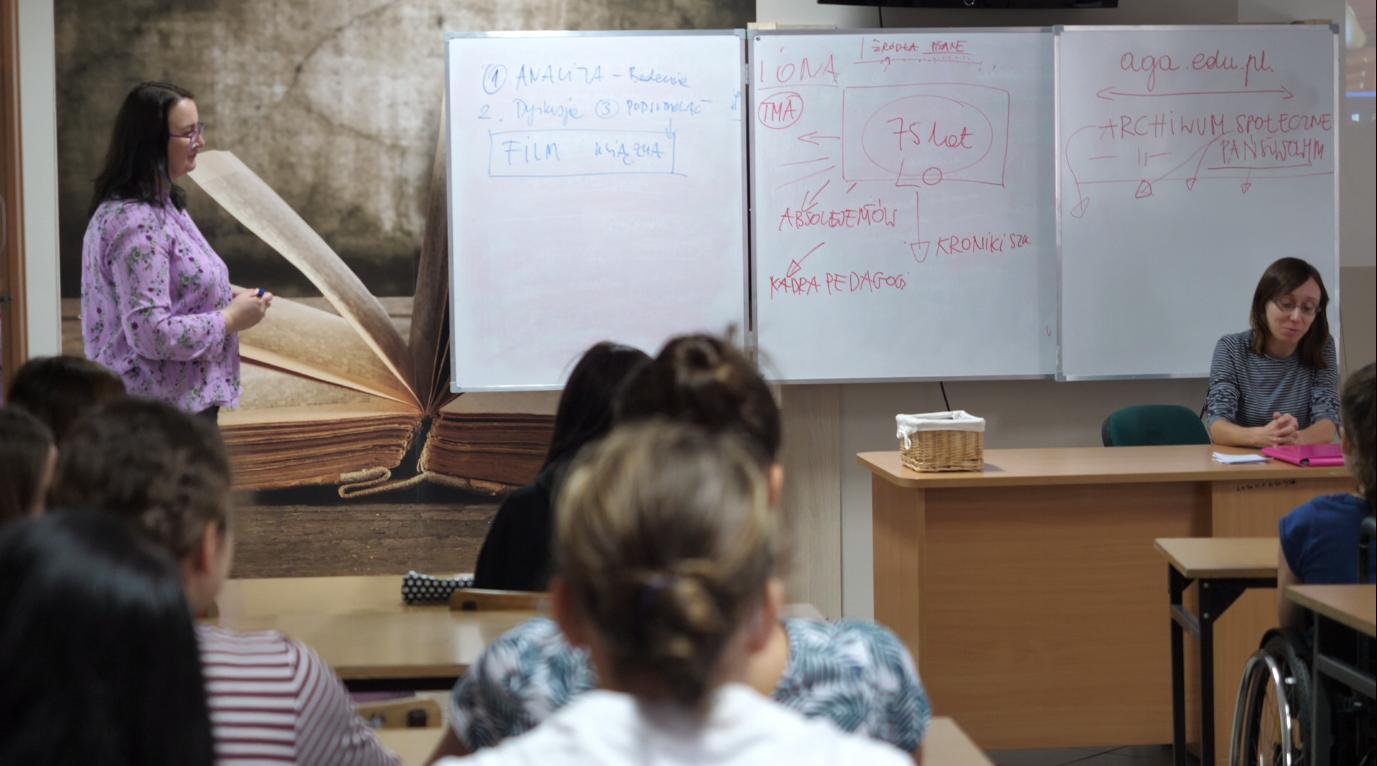 Historia Mówiona - w klasie I humanistycznej LO w Andrychowie